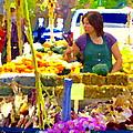 Fruit And Vegetable Vendor Roadside Food Stall Bazaars Grocery Market Scenes Carole Spandau by Carole Spandau