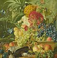 Fruit Flowers And Dead Birds by Wybrand Hendriks
