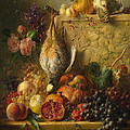 Fruit Flowers And Game by Georgius Jacobus Johannes van Os