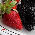 Fruit II - Strawberries - Blackberries by Barbara Griffin