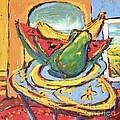 Fruit Plate With Table by Diane STEVENETT