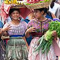 Fruit Sellers In Antigua Guatemala by David Smith