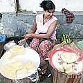 Fruit Vendor On Street Yangon Myanmar by Jacek Malipan