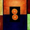 Fruity Triptych by Fran Riley