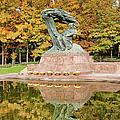 Fryderyk Chopin Statue In Warsaw by Artur Bogacki
