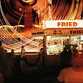 Fryeburg Fair At Night  Fried Dough by John B Poisson