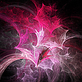 Fuchsia Fountain Abstract by Andee Design