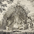 Fuegans In Their Hut, 18th Century by British Library