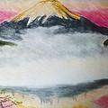 Fuji Mountain In The Fog by Agata Suchocka-Wachowska