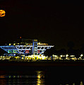 Full Blood Moon Over The St. Petersburg Pier by Jay Droggitis