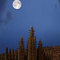 Full Moon At Bandiagara Mali by Dominic Piperata
