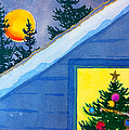 Full Moon At Christmas by Teresa Ascone