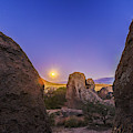 Full Moon At City Of Rocks by Alan Dyer