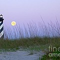 Full Moon At Hatteras by Laurinda Bowling