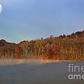 Full Moon Big Ditch Lake by Thomas R Fletcher