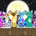 Full Moon Felines by Nick Gustafson