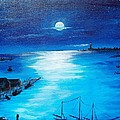 Full Moon Harbor by Walter Carrick
