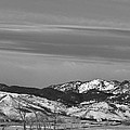 Full Moon On The Co Front Range Bw by James BO Insogna