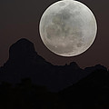 Full Moon Over Baboquivari by Laurie Larson