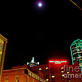 Full Moon Over Dallas Streets by Pamela Smale Williams