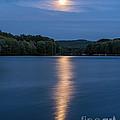 Full Moon Over Locke Lake by Sharon Seaward