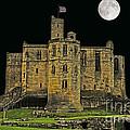 Full Moon Over Medieval Ruins by Elvis Vaughn