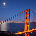 Full Moon Over San Francisco by Brian Jannsen