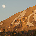 Full Moon Rising Mt Lassen California by Kevin Schafer