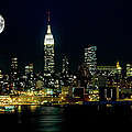 Full Moon Rising - New York City by Anthony Sacco