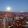 Full Moon Rising Over La Paz by James Brunker