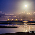 Full Moon Rising Over Sandgate Pier by Silken Photography