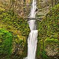 Full View Of Multnomah Falls In The Columbia River Gorge Of Oregon by Jamie Pham