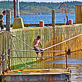 Fun At The Ferry Dock On Brier Island In Digby Neck-ns by Ruth Hager