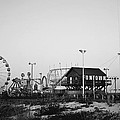 Fun At The Shore Seaside Park Nj Black And White by Terry DeLuco