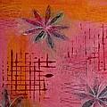 Fun Flowers In Pink And Orange 1 by Jocelyn Friis