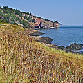 Fundy Bay Coastline Near Cliffs Of Cape D'or-ns by Ruth Hager
