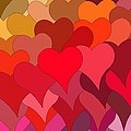 Funky Hearts by Frances Lewis