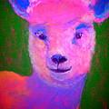 Funky Pinky Lamb Art Print by Sue Jacobi