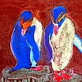 Funky Rockhopper Penguins by Sue Jacobi