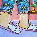 Funny Bunny Slippers by Debi Starr