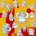 Funny Doodle Characters Urban Art by Frank Ramspott