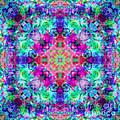 Fushia Rainbow Mandala by Susan Bloom