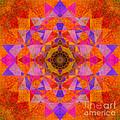 Fushia Yantra Diamond Mandala by Susan Bloom