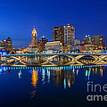 Fx2l530 Columbus Ohio Night Skyline Photo by Ohio Stock Photography