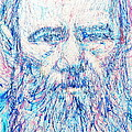 Fyodor Dostoyevsky / Colored Pens Portrait by Fabrizio Cassetta