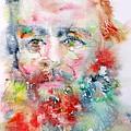 Fyodor Dostoyevsky - Watercolor Portrait.4 by Fabrizio Cassetta