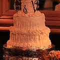 G And V Wedding Cake by Jennifer E Doll
