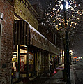 G Street Antique Store In The Snow by Mick Anderson
