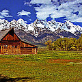 Gable Roof Barn Panorama by Rich Walter
