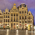 Gabled Buildings In Grand Place by Juli Scalzi